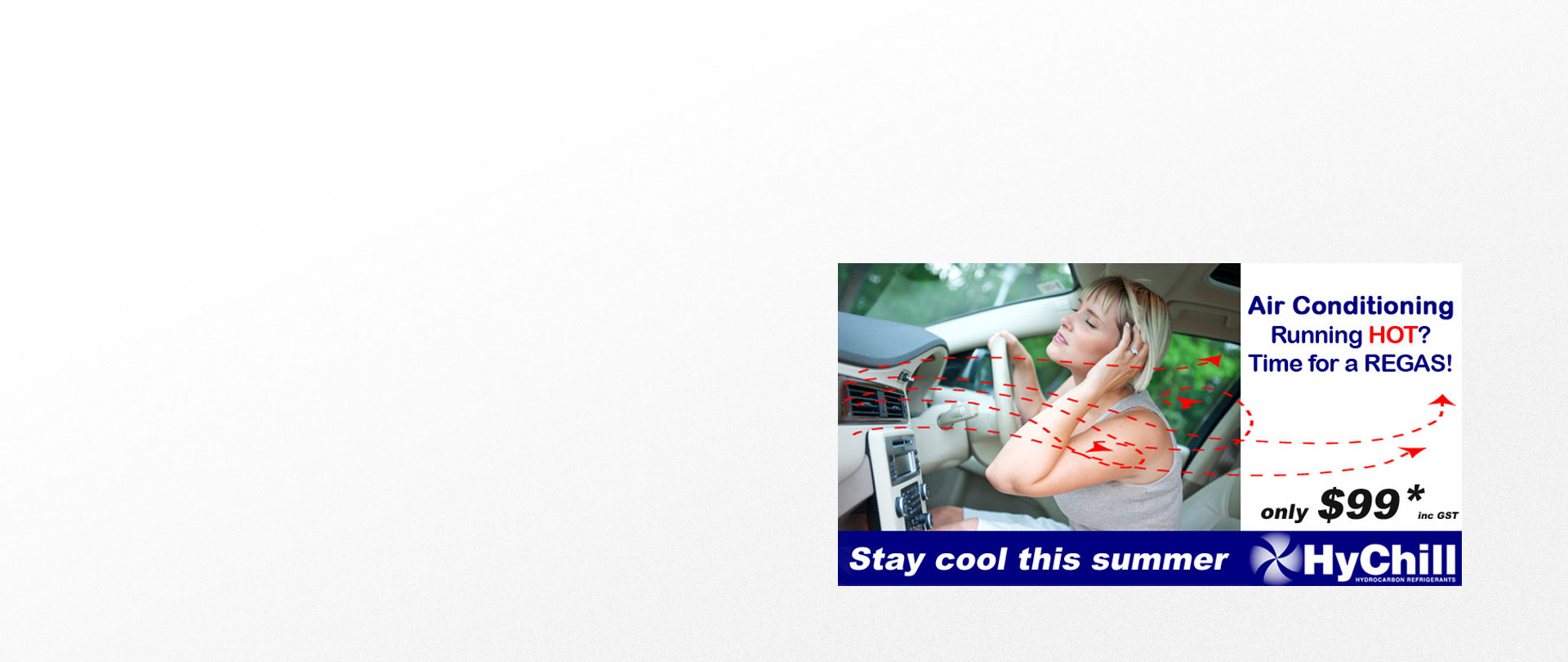 REGAS Air Conditioner in your vehicle and stay COOL this summer!