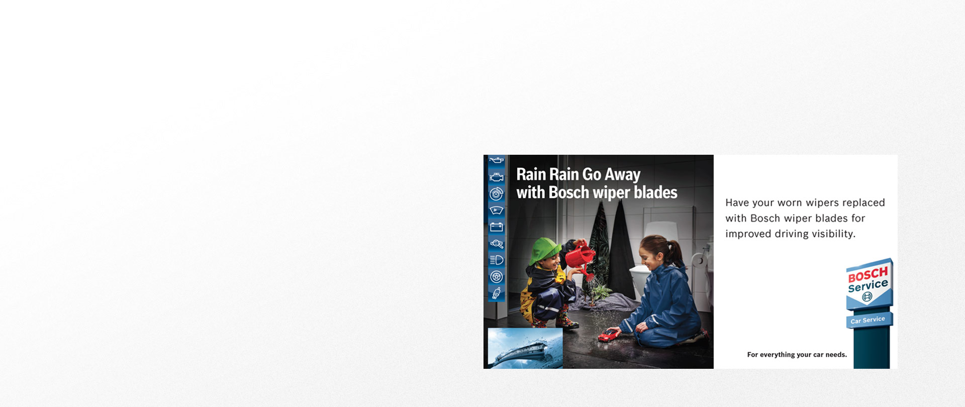 Be ready for winter rain with BOSCH wiper blades